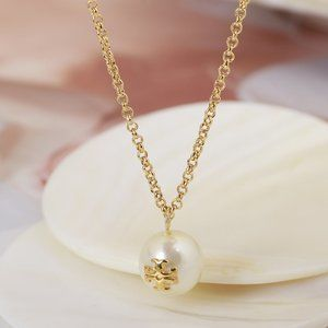 🎁Tory Burch Simple Pearl Metal Clavicle Chain